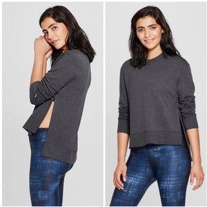 Joy Lab Charcoal Gray Side Slit Sweatshirt